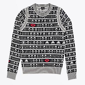 PS Paul Smith  - Lips And Circles Knitted Sweater - Black