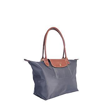 Longchamp 2605089300 Women's Grey Nylon Shoulder Bag