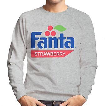 Camisola dos homens do logotipo da morango retro de Fanta 1980