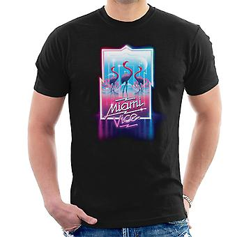 Miami Vice Neon Flamingo Men's T-Shirt