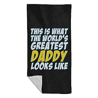 What The Worlds Greatest Dad Looks Like Beach Towel
