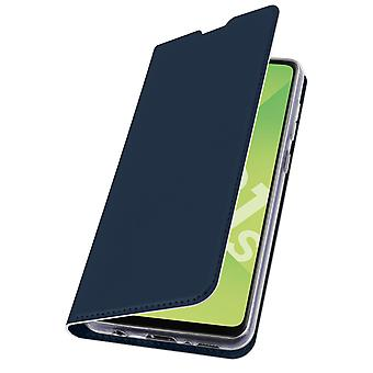 Samsung Galaxy A21s Flip Case with Stand Function and Wallet - Dark Blue