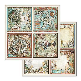 Stamperia Sea World 12x12 Tuuman Paperiarkkeja (10kpl) (SBB666)
