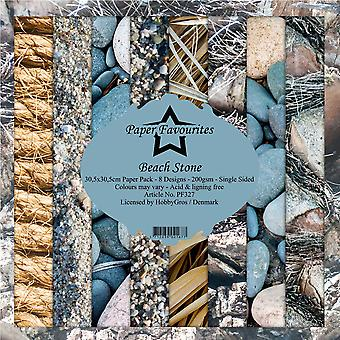 Paper Favourites Beach Stone 12x12 Inch Paper Pack