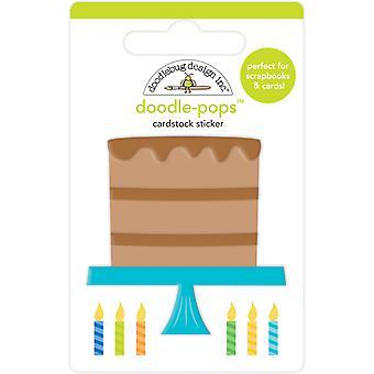Doodlebug Design Chocolate Cake Doodle-Pops