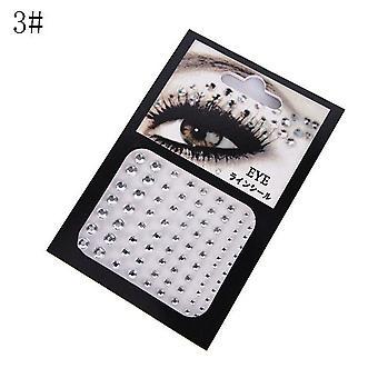 Módní Tetování Diamond make-up, oční linky oční stíny face nálepka jewel oči