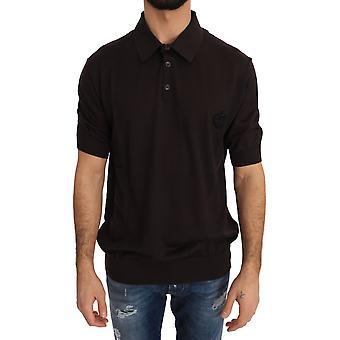 Dolce & Gabbana Brown Polo Short Sleeve T-shirt
