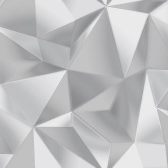 Debona Spectrum Silver Grey 3D Effect Geometric Shape Modern Silver Grey Wallpaper