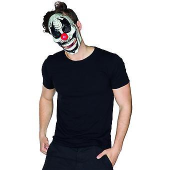 Clown Maske mit beweglichem Mund Horrorclown Halloween Totenkopf Monsterclown