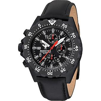 KHS - Wristwatch - Men's Shooter MKII Chronograph with Leather Strap- KHS. SH2COT. L