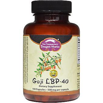 Dragon Herbs, Goji LBP-40, 500 mg, 100 Capsules