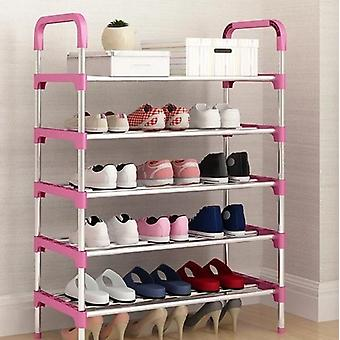 Aluminum Metal Standing Shoe Rack - Diy Storage Shelf