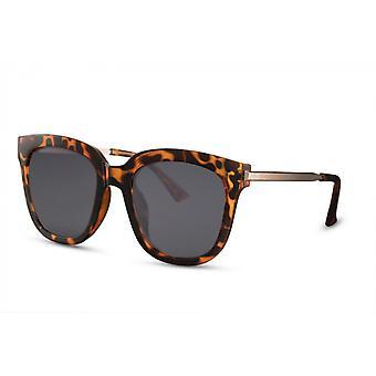 النظارات الشمسية السيدات فراشة كامل حافة كات. 3 بني / دخان