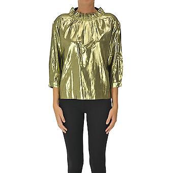 Soeur Ezgl563008 Women's Gold Viscose Top