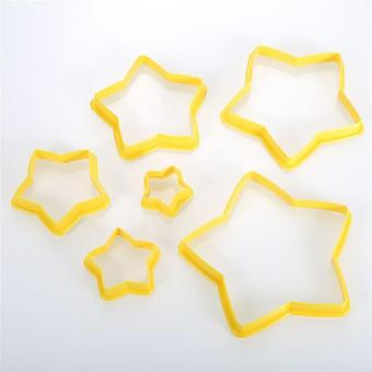 6pcs/set Multi Style Cake Cookie Biscuit Cutter - Stamp Mold Used For Food Grade Baking Pastry