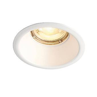 LED Fire Rated 1 Light Bathroom Recessed Downlight Matt White, Glass IP65