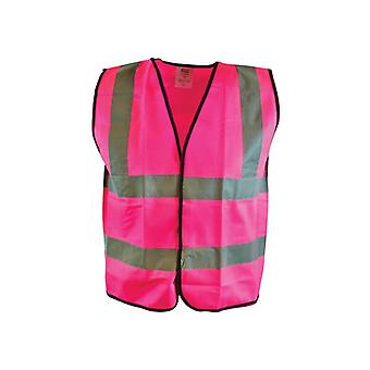 Scan Hi-Vis Vest Pink - M (41in) SCAWWHVWMP