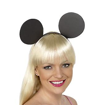 Black Mickey Mouse Ears Headband Fancy Dress Costume Accessory