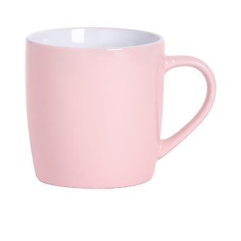 Argon Bordservice Tea Kaffe Krus - Contemporary Farvet Keramisk Cup - 350ml - Pink
