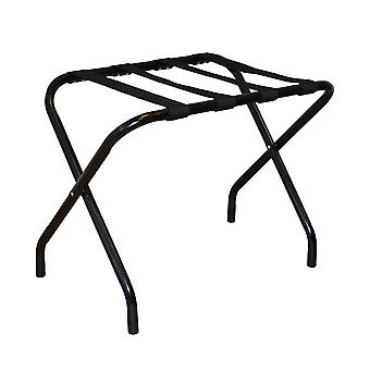Folding Metal Luggage Rack Suitcase Stand - Black