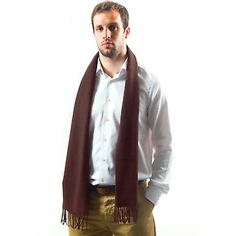 Ties Planet Lyle And Scott Plain Claret Lambswool Scarf