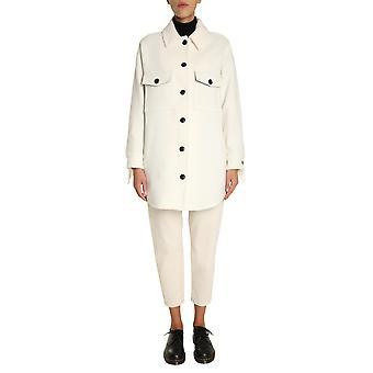 Woolrich Wwos0032frut24588269 Women's White Wool Coat
