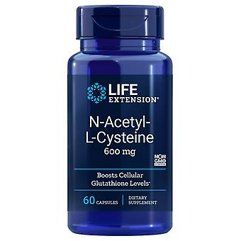 Life Extension N-Acetyl-L-Cysteine, 600 mg, 60 Vcaps