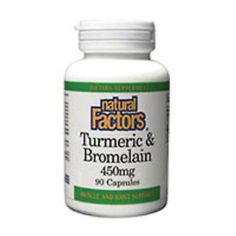 Natuurlijke factoren Tumeric & Bromellain, 180 Caps
