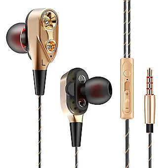 QKZ CK8 Wired Dual Moving Coil Heavy Bass Stereo In-ear Earphone
