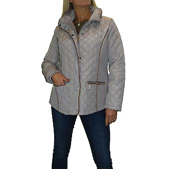 Womens Plus Size Diamond Quilted Jacket Coat With Hood Ladies Lightweight Padded Jacket 12-22