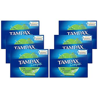 Tampax Compak Tampons, Super Plus, Regular or Super, 18 Tampons of 6 Pack