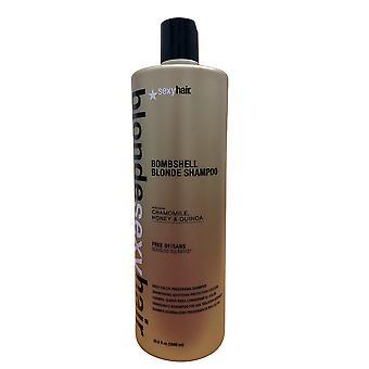 Sexy Hair Bombshell Blonde Shampoo Sulfate Free 33.8 OZ