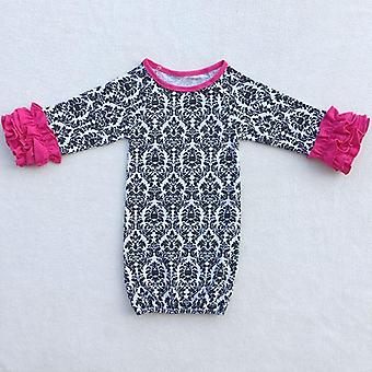 Nightgowns, Sleeping Ba,  Raglan Ruffle Sleeve Baby Sleep Sack Cotton Clothes