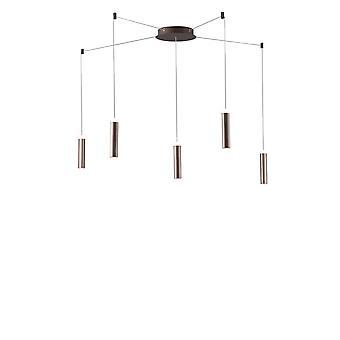 Fan Europe Candle - LED 5 Light Ceiling Hanger, Brons