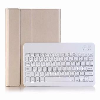 For Huawei MatePad T8 Ultra-thin Detachable Bluetooth Keyboard Leather Case with Stand & Sleep Function & Backlight(Gold)