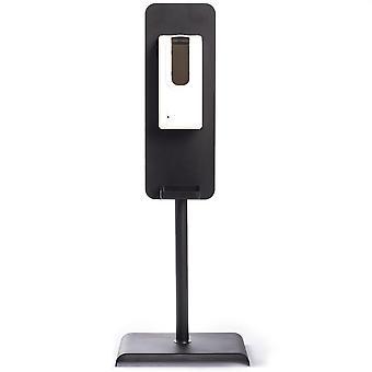 Hand-Sanitizer-Ständer, schwarzes Aluminium