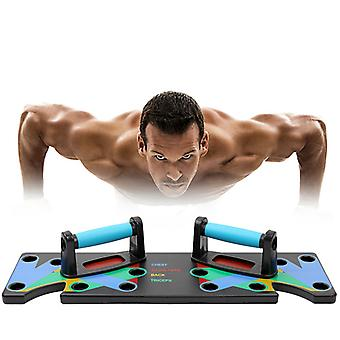 9 en 1 Push Up Rack Training Board ABS abdominal Muscle Trainer Sports Home Fitness Equipment for body Building Workout Exercise