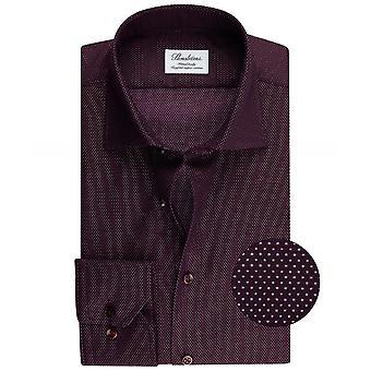 Stenstroms Fitted Body Polka Dot Shirt