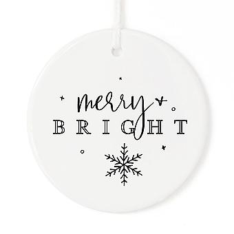 Merry + Bright Christmas Ornament