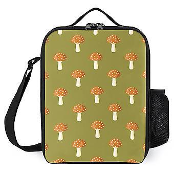 Polka Dot Mushroom Pattern Printed Lunch Bags