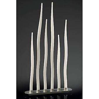 Estalacta Floor Lamp 6 Bollen Gu10 Bar Indoor, Zilver / Opaal Wit
