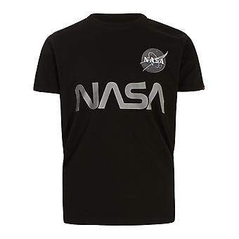 Alpha Industries 17850103 Heren's Zwart Katoen T-shirt