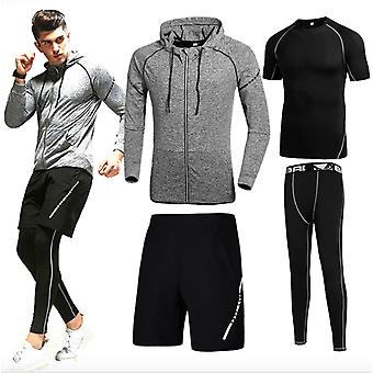 Outdoor Sports Suits Men's Running Fitness Suits Summer Training Clothes Quick-drying Clothes Men's Tight Running Basketball Clothes