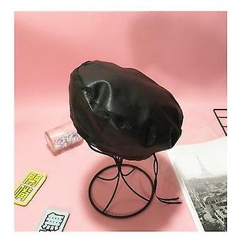 Divat Filc Pu bőr beret kalap női beanie beret sapka tavaszra / ősszel