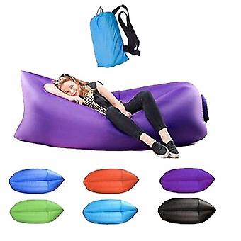 Waterproof Inflatable Sofa Portable Outdoor Beach Bed Sleeping Bag Oxford