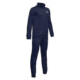 Under Armour Kids Fitness Training Knit Tracksuit Suit Set Navy Blue