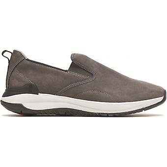 Hush Puppies Felix Slip On Mens Leather Trainers Grey