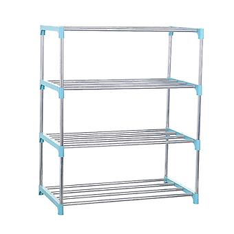 Simple Four Layers Shoe Rack Stainless Steel Easy Assemble Storage Shoe Cabinet Shoe Rack Hanger Home Organizer Accessories