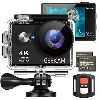 Geekam action helmet camera 4k 16mp wifi ultra hd waterproof sports camera with 2.4g remote control