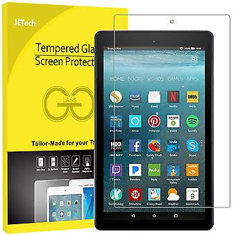 Jetech screen protector compatible amazon fire 7 (2019/2017 model, 9th / 7th generation), tempered g
